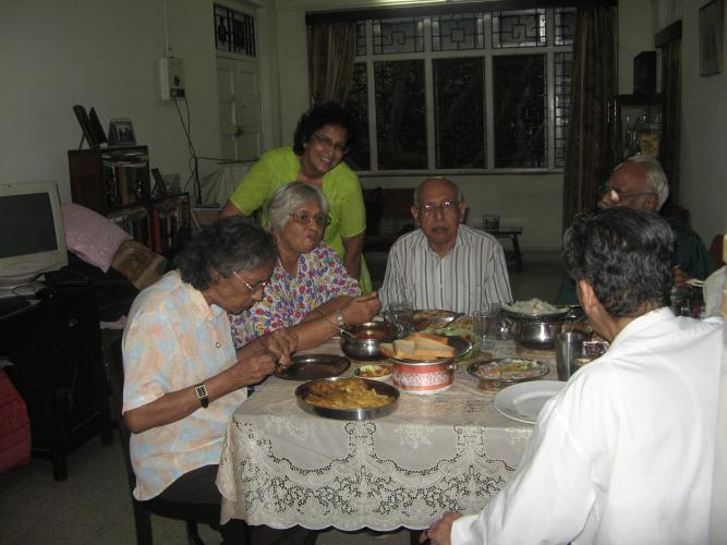All listening to Prof. Edgar, dinner at Chembur